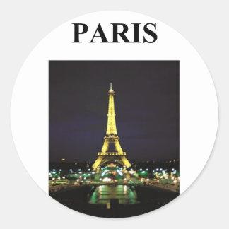 torre Eiffel París Francia Pegatina Redonda
