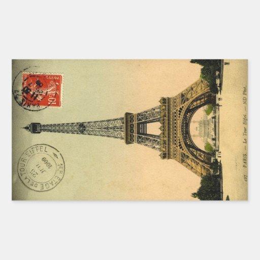 Torre Eiffel París Francia - pegatinas Rectangular Pegatinas