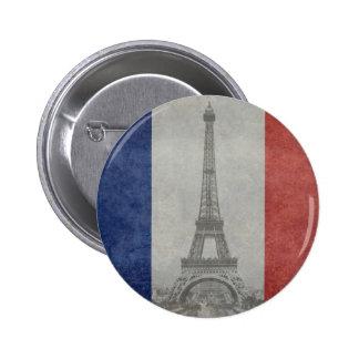 Torre Eiffel, París Francia Pin Redondo De 2 Pulgadas