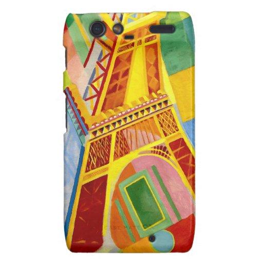 Torre Eiffel - París, Francia - por Delaunay Motorola Droid RAZR Funda