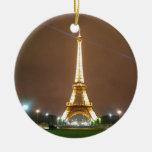 Torre Eiffel París Francia - tarde de la primavera Ornamento Para Reyes Magos