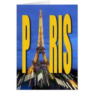 Torre Eiffel París Francia Tarjeta De Felicitación