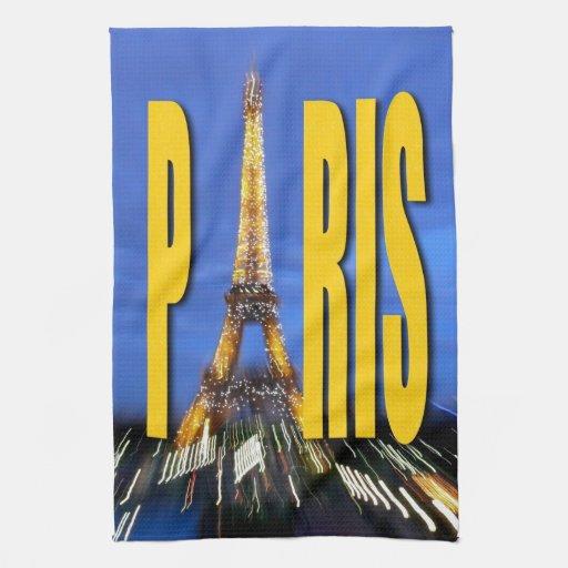 Torre Eiffel París Francia Toallas De Mano