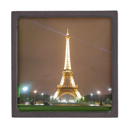Torre Eiffel París Francia - vacaciones de la prim Caja De Recuerdo De Calidad
