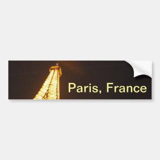 Torre Eiffel París Francia - vacaciones de la prim Pegatina Para Auto