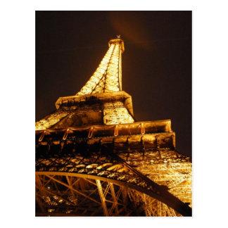 Torre Eiffel París Francia - vacaciones de la prim Postal