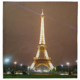Torre Eiffel París Francia - vacaciones de la prim Servilleta De Papel