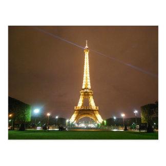 Torre Eiffel París Francia - vacaciones de la prim Tarjeta Postal