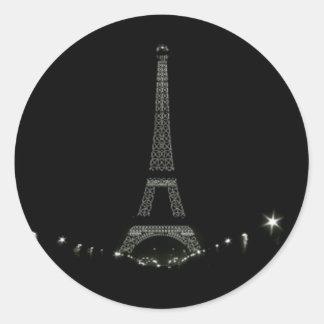Torre Eiffel París Pegatina Redonda