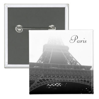 Torre Eiffel, París Pin Cuadrado