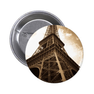 Torre Eiffel París Pin Redondo De 2 Pulgadas