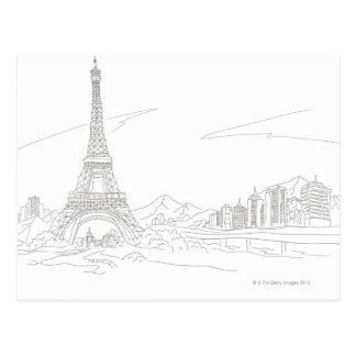 Torre Eiffel, París Tarjeta Postal