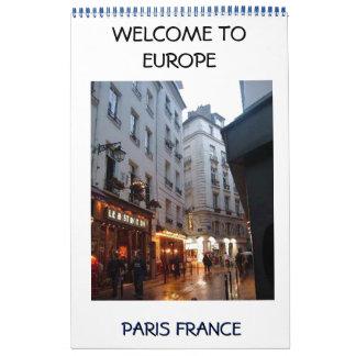 Torre Eiffel, París, WELCOME TO EU... Calendar