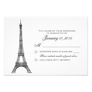 Torre Eiffel parisiense que casa el personalizado Anuncio Personalizado
