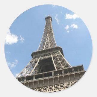 Torre Eiffel Pegatina Redonda