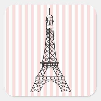 Torre Eiffel Pegatina Cuadrada