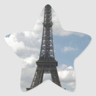 Torre Eiffel Pegatina En Forma De Estrella