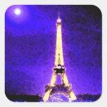 Torre Eiffel Pegatinas Cuadradases Personalizadas