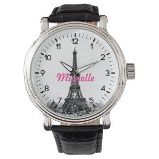 Torre Eiffel personalizada París Reloj