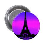 Torre Eiffel Pin Redondo 5 Cm