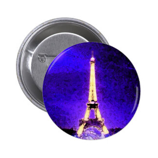 Torre Eiffel Pin Redondo De 2 Pulgadas