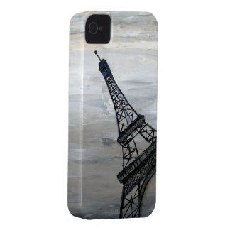 Torre Eiffel por el acebo Anderson del artista iPhone 4 Funda