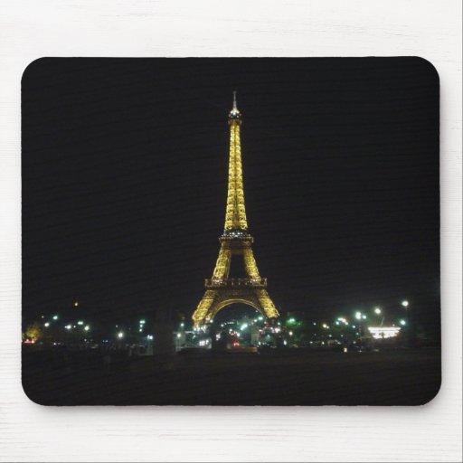 Torre Eiffel por noche Mouse Pads