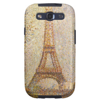 Torre Eiffel por Seurat arte del Pointillism del Samsung Galaxy S3 Carcasa