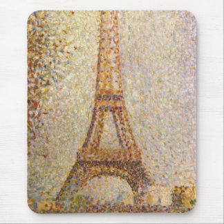 Torre Eiffel por Seurat, arte del Pointillism del Tapete De Raton
