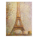 Torre Eiffel por Seurat, arte del Pointillism del  Postales