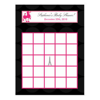 Torre Eiffel programable de París del caniche del  Tarjetas Postales
