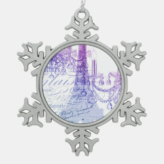 torre Eiffel púrpura moderna de París de la Adornos