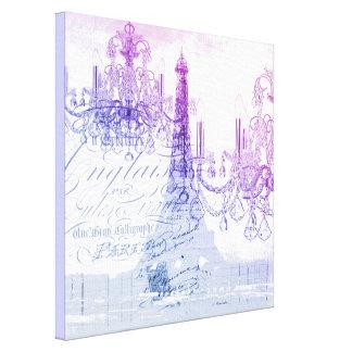 torre Eiffel púrpura moderna de París de la Impresiones En Lona Estiradas