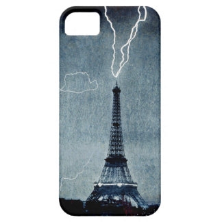 Torre Eiffel - rayo 1902 - en azul Funda Para iPhone SE/5/5s