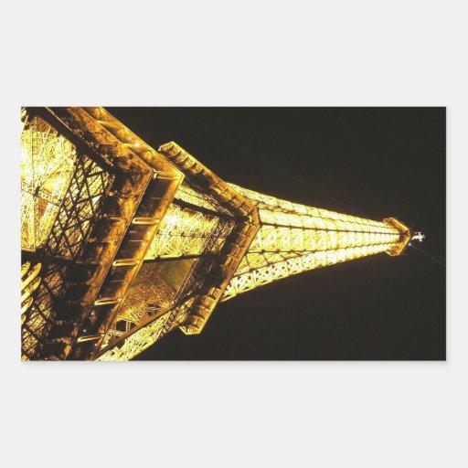 Torre Eiffel Rectangular Pegatinas