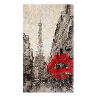 Torre Eiffel romántica de París del vintage Tarjeta De Negocio
