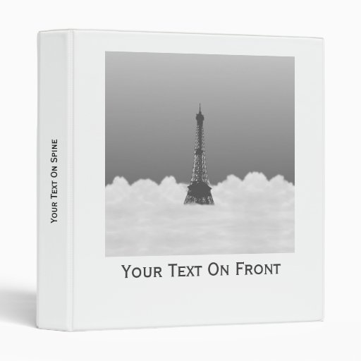 Torre Eiffel romántica que flota en nube