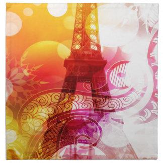 Torre Eiffel romántica Servilleta Imprimida
