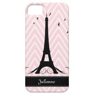 Torre Eiffel rosada de los galones de París iPhone 5 Case-Mate Carcasa