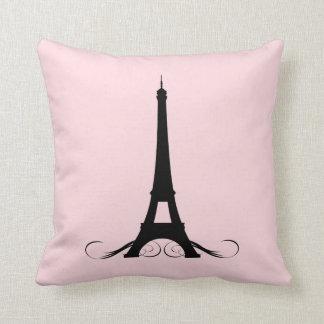 Torre Eiffel rosada de París Almohadas