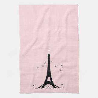 Torre Eiffel rosada de París Toalla