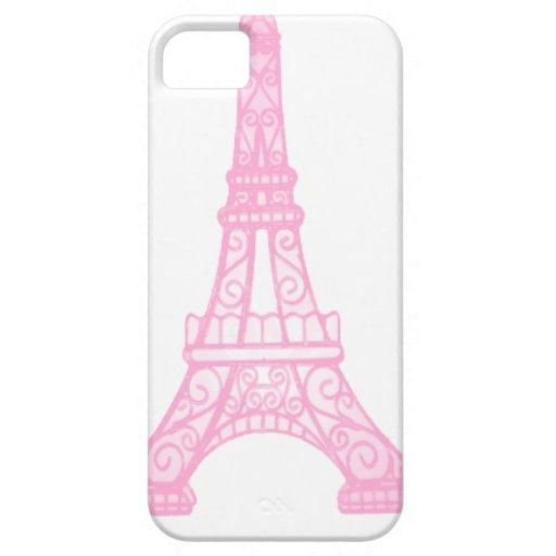 Torre Eiffel rosada iPhone 5 Cárcasas