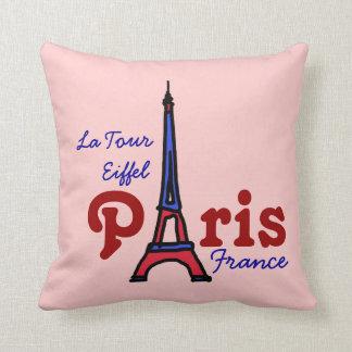 torre Eiffel rosada París Francia Cojines