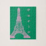 Torre Eiffel rosada Rompecabezas Con Fotos