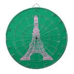Torre Eiffel rosada Tabla Dardos