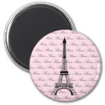 Torre Eiffel rosada y negra de París Iman