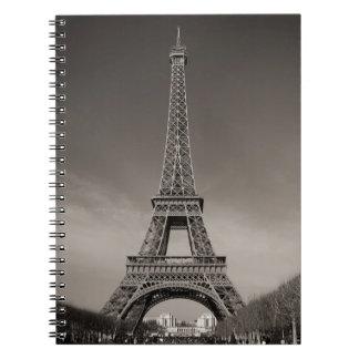 Torre Eiffel Spiral Notebook
