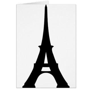 Torre Eiffel Tarjeta De Felicitación