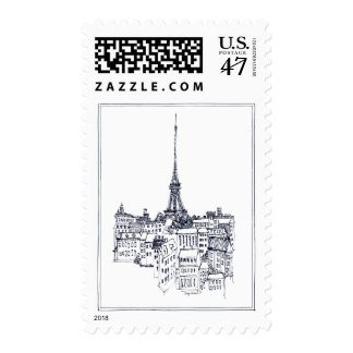 Torre Eiffel Timbres Postales