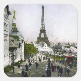 Torre Eiffel Universal Exhibition of Paris Square Sticker